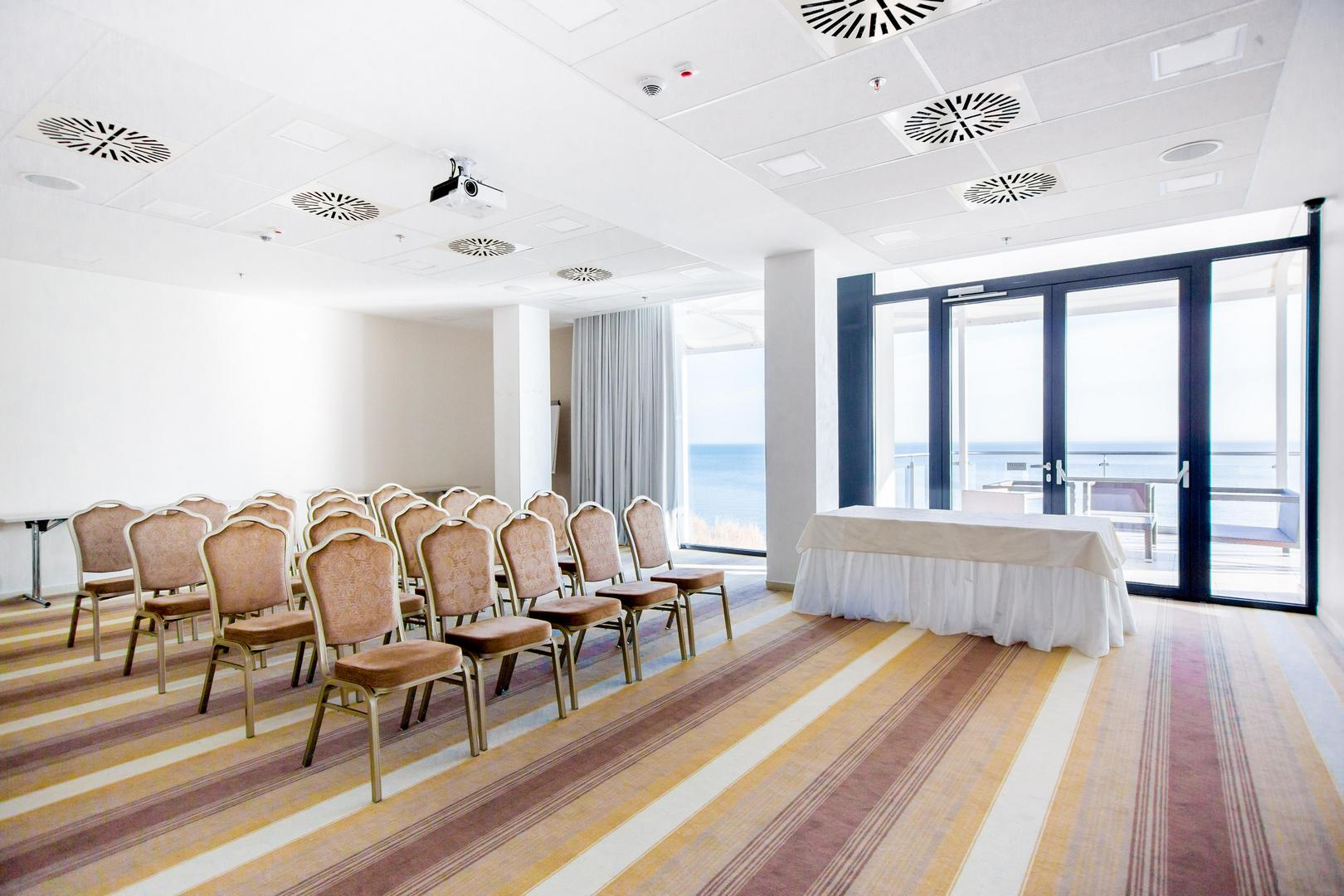 A Hotel Füred konferenciatermének megjelenítője