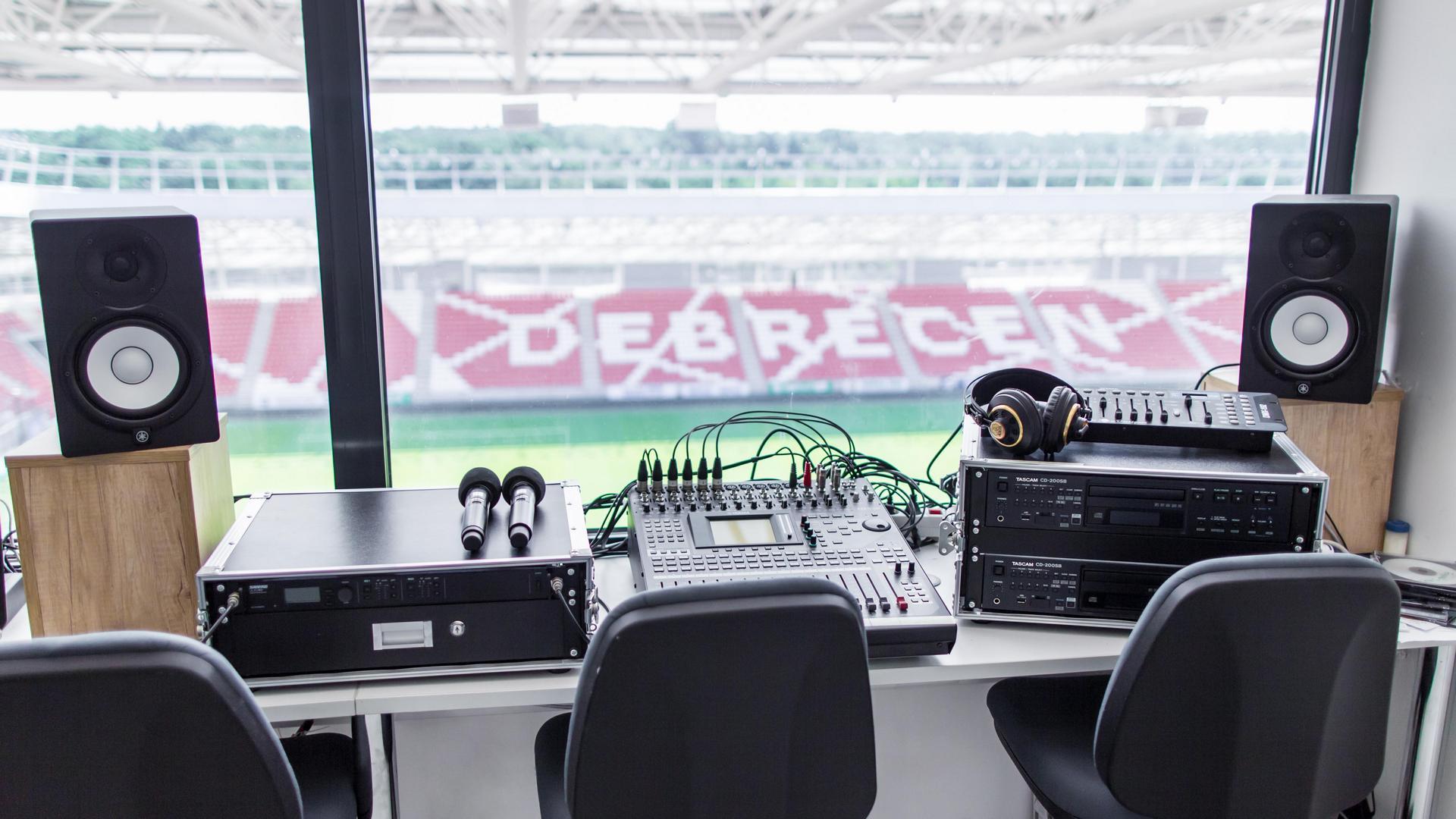 A Nagyerdei Stadion hangvezérlő rendszere