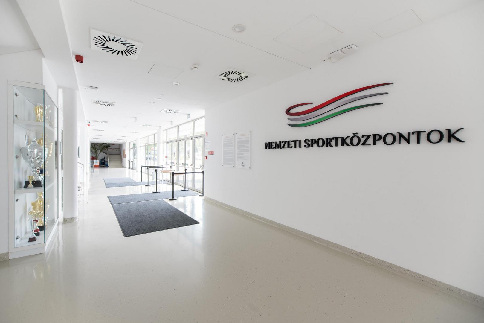 A Nemzeti Kosárlabda Aréna bejárata