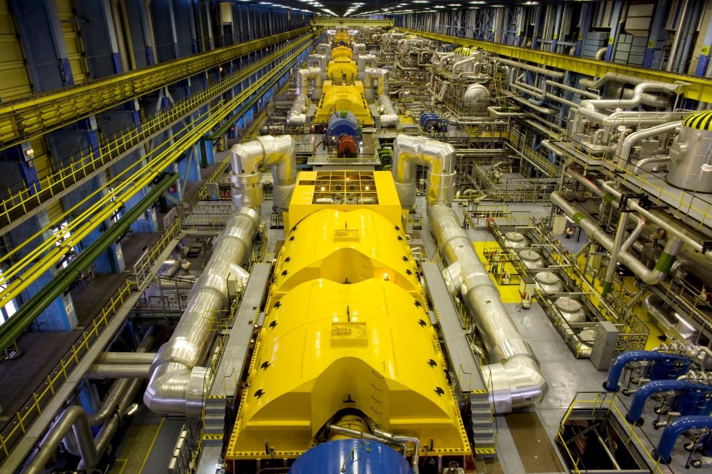 A Paksi Atomerőmű belső tere