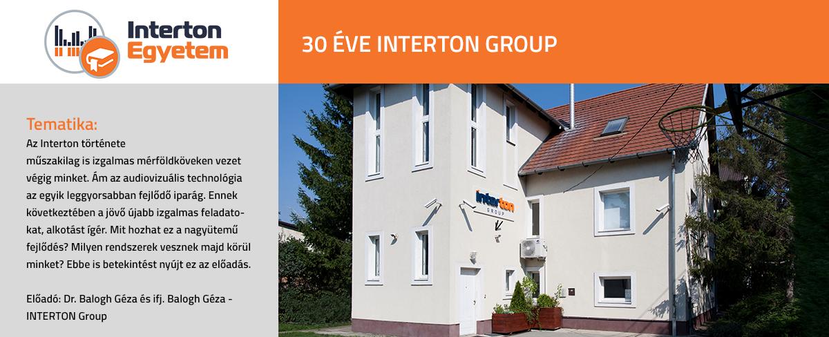 30 éve INTERTON Group előadás